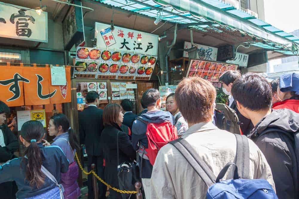 Tsukiji il mercato del pesce di Tokyo