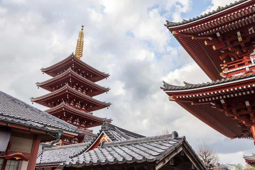 Architetture del complesso templare in Asakusa